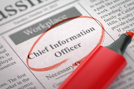 57868945 - chief information officer - advertisements and classifieds ads for vacancy in newspaper, circled with a red highlighter. blurred image with selective focus. job seeking concept. 3d render.