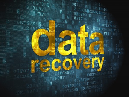 17549877 - information concept  pixelated words data recovery on digital background, 3d render