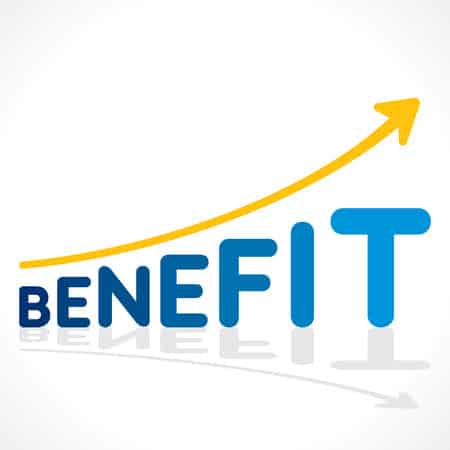 31500342 – Creative Benefit Word Growth Graph Vector
